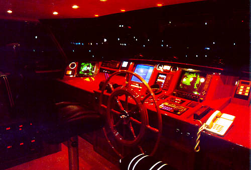 Dorothea's Pilothouse At Night